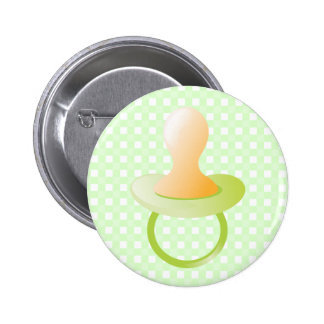 Green Pacifier 6 Cm Round Badge