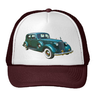 Green Packard Luxury Car Trucker Hat