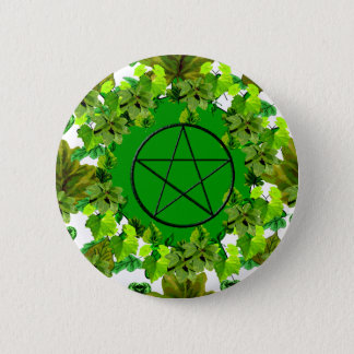 Green Pagan 6 Cm Round Badge