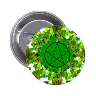 Green Pagan 6 Cm Round Badge