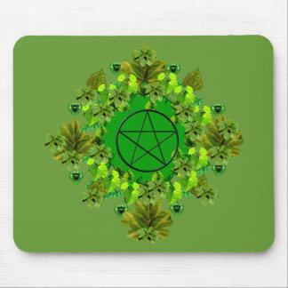 Green Pagan Mouse Pad