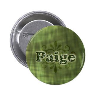 Green Paige 6 Cm Round Badge