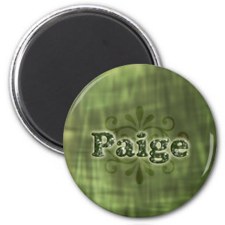 Green Paige 6 Cm Round Magnet
