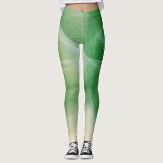 Green Paint Splatter Leggings