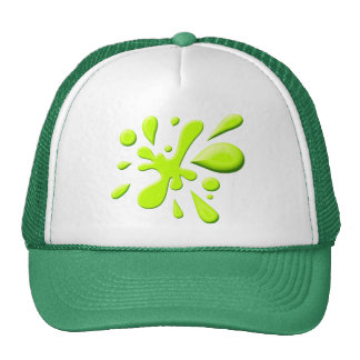Green Paint Splodge Hats