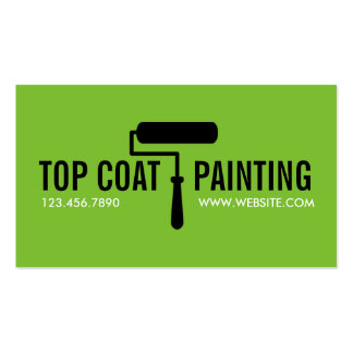 Green Painting Painter Construction Business Card