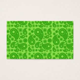 Green Paisley. Business Card