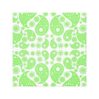 Green Paisley. Canvas Print