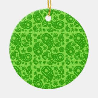 Green Paisley. Christmas Ornaments