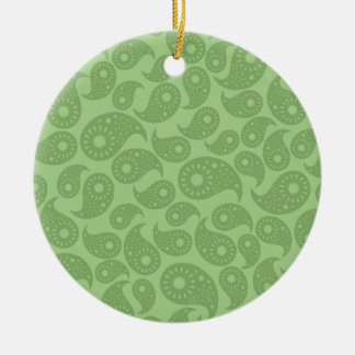 Green Paisley. Ornament