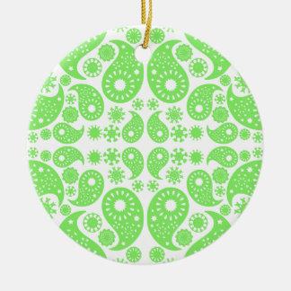 Green Paisley. Christmas Ornament