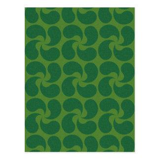 Green Paisley Design Postcard