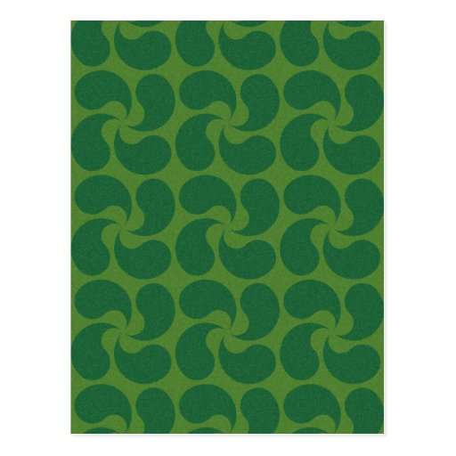 Green Paisley Design Postcard