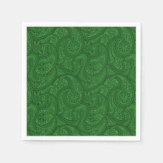 Green Paisley Disposable Serviette