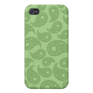 Green Paisley iPhone 4 Covers