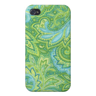 Green Paisley Covers For iPhone 4