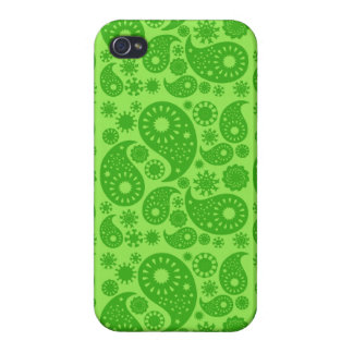 Green Paisley. Cases For iPhone 4