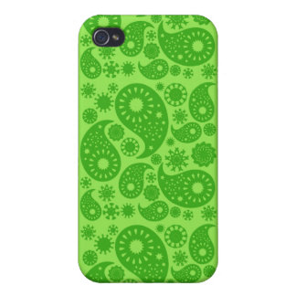 Green Paisley. iPhone 4 Case