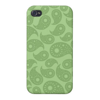 Green Paisley. iPhone 4 Cases