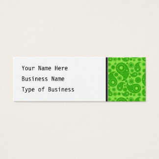 Green Paisley. Mini Business Card