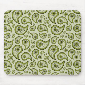 Green Paisley Mouse Mat