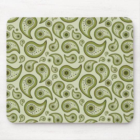 Green Paisley Mouse Mat