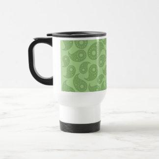 Green Paisley. Travel Mug