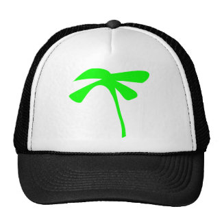 green palm icon mesh hat