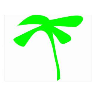 green palm icon postcard
