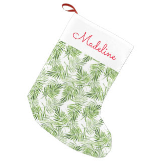 Green Palm Leaves | Add Your Name