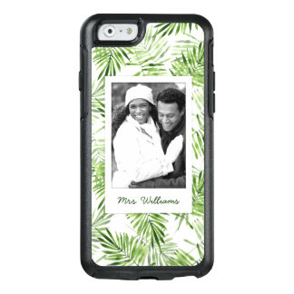 Green Palm Leaves   Add Your Photo & Name OtterBox iPhone 6/6s Case