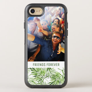 Green Palm Leaves | Add Your Photo & Text OtterBox Symmetry iPhone 8/7 Case