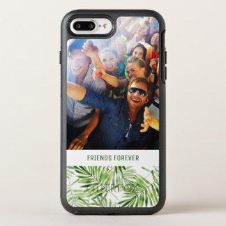 Green Palm Leaves | Add Your Photo & Text OtterBox Symmetry iPhone 8 Plus/7 Plus Case