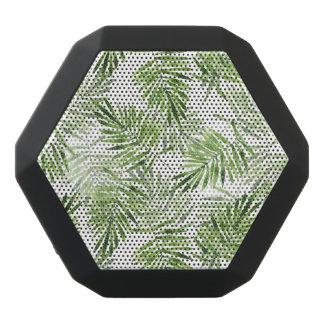 Green Palm Leaves Black Bluetooth Speaker