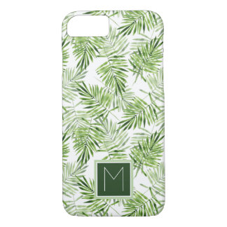 Green Palm Leaves | Monogram iPhone 8/7 Case