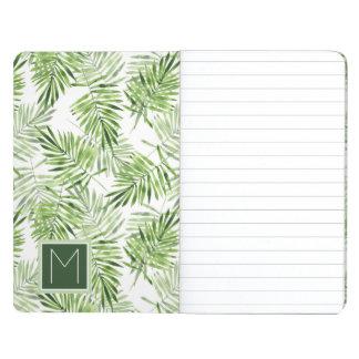 Green Palm Leaves   Monogram Journal