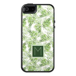 Green Palm Leaves | Monogram OtterBox iPhone 5/5s/SE Case
