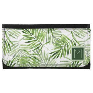 Green Palm Leaves | Monogram Wallet