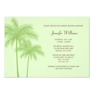 Green Palm Tree Bridal Shower Invitation