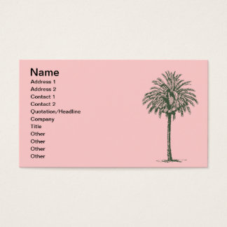 Green Palm Tree Business Card