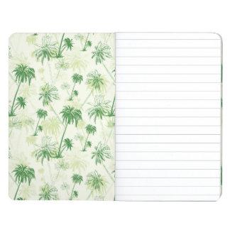 Green Palm Tree Pattern Journal