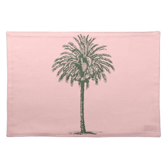 Green Palm Tree Place Mats