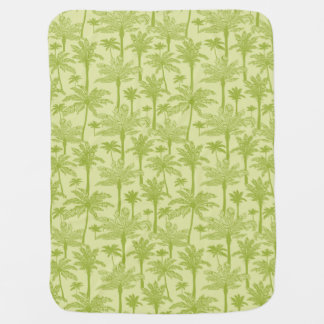Green Palm Trees Pattern Baby Blanket