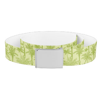 Green Palm Trees Pattern Belt