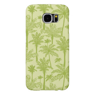 Green Palm Trees Pattern Samsung Galaxy S6 Cases