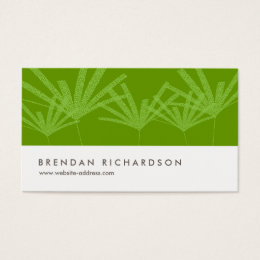 GREEN PALMS IV Business Card Design