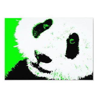 green panda 9 cm x 13 cm invitation card