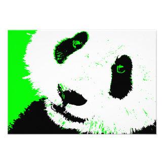 green panda invitation