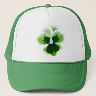 Green Pansy Flower Editable Add Your Imagination Trucker Hat