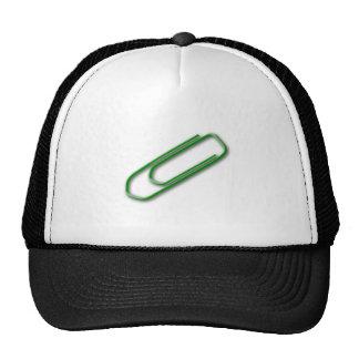 Green Paper Clip Hats